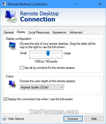Save Remote Desktop Connection Settings to RDP File in Windows-rdc_settings-2.png