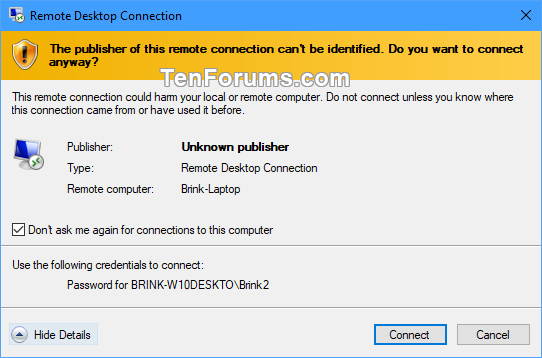 Save Remote Desktop Connection Settings to RDP File in Windows-publisher_of_remote_connection.png