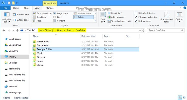 Sync Any Folder to OneDrive in Windows 10-onedrive_folder.jpg