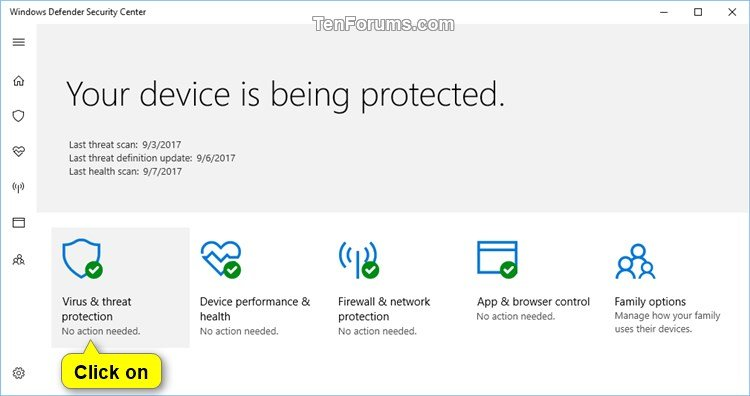 Turn On or Off Windows Defender Real-time Protection in Windows 10 ...