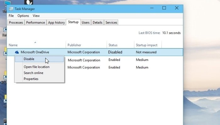 how to stop one drive setup from popping up win7