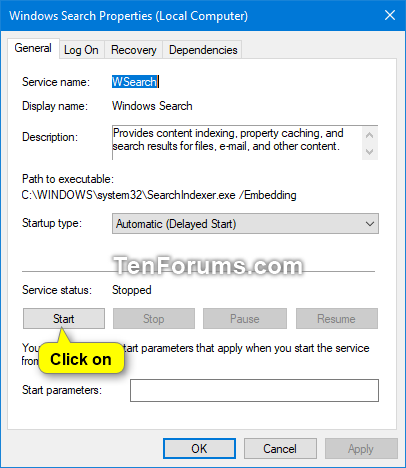 how to enable windows search engine
