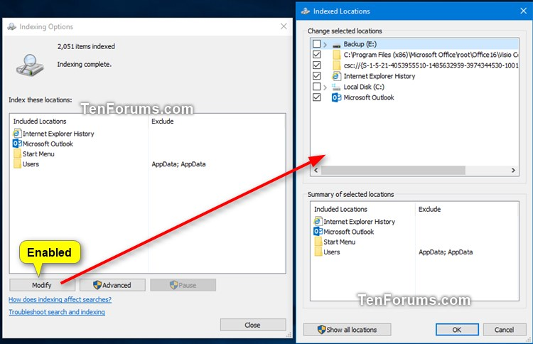 Enable or Disable Modifying Indexed Locations in Windows-modify_indexed_options-enabled.jpg