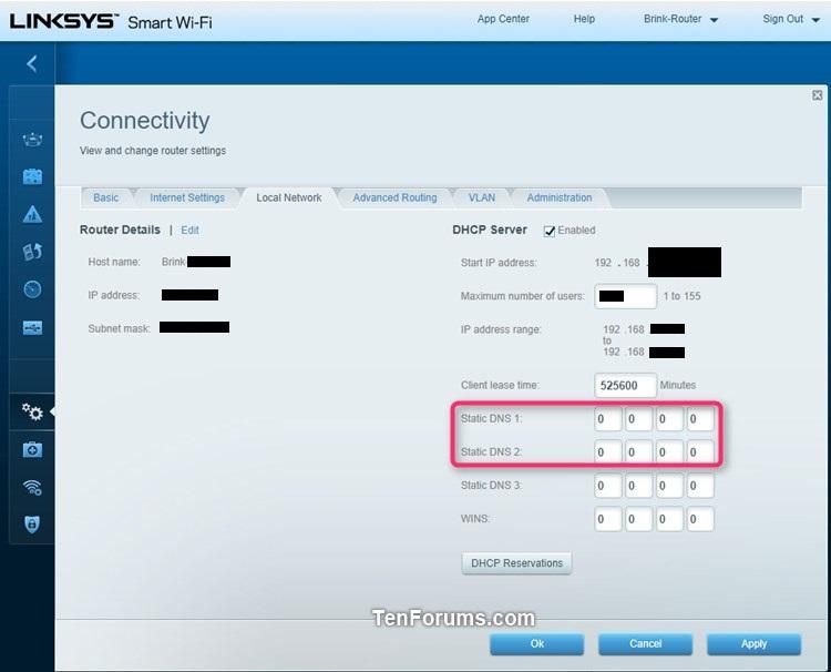 Change IPv4 and IPv6 DNS Server Address in Windows-linksys_dns.jpg