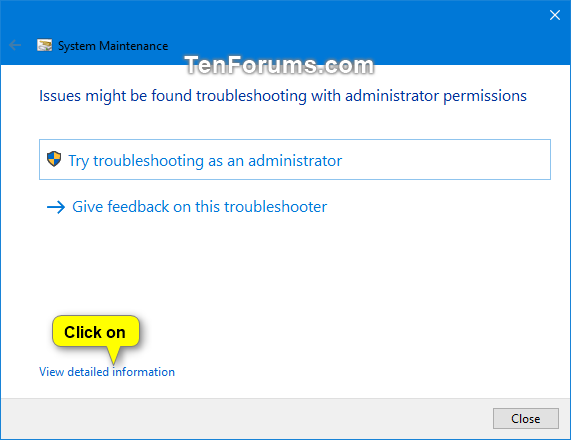 Run System Maintenance Troubleshooter in Windows-system_maintenance_troubleshooter-4.png