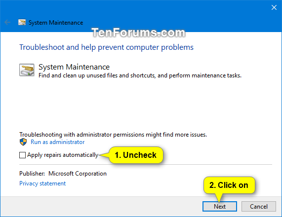 Run System Maintenance Troubleshooter in Windows-system_maintenance_troubleshooter-3.png