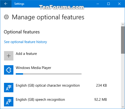 Install or Uninstall Windows Media Player in Windows 10 | Tutorials