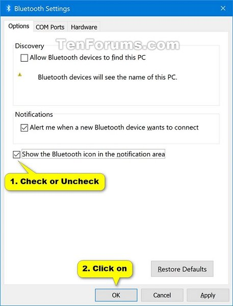 Turn on or off bluetooth notification area icon in windows 10 name bluetoothsettings 2g views 2139 size 585 kb turn on or off bluetooth notification area icon in windows 10 ccuart Gallery