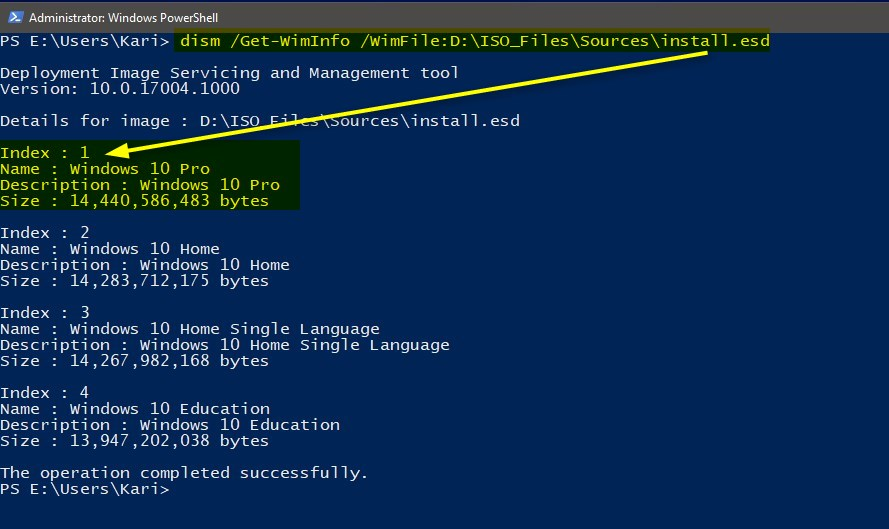 Convert ESD file to WIM using DISM in Windows 10 | Tutorials