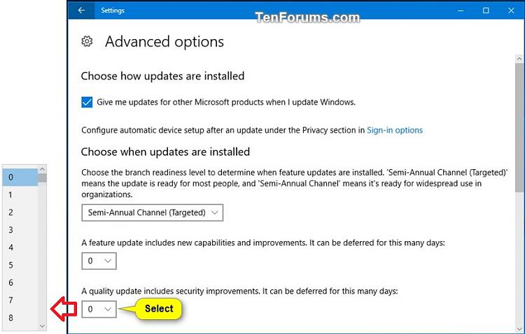 Windows Update - Defer Feature and Quality Updates in Windows 10-defer_feature_updates-4.jpg