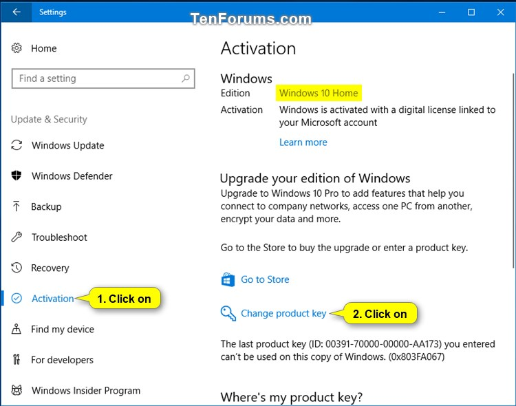 Upgrade Windows 10 Home to Windows 10 Pro for Workstations