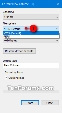 Format Disk or Drive in Windows 10 | Tutorials
