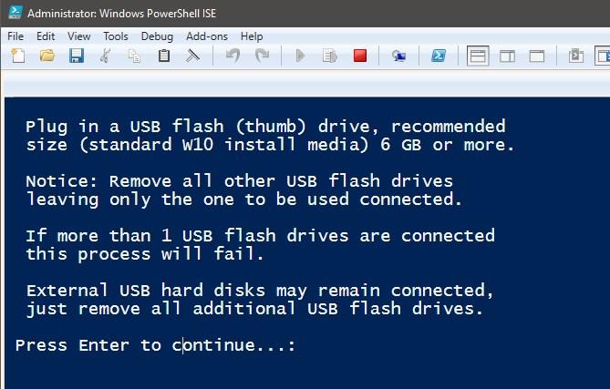 PowerShell Scripting - Create USB Install Media for Windows