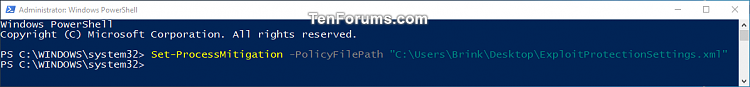 Click image for larger version.  Name:Import_Windows_Defendeer_Exploit_protection_settings_PowerShell.png Views:50 Size:21.6 KB ID:160220