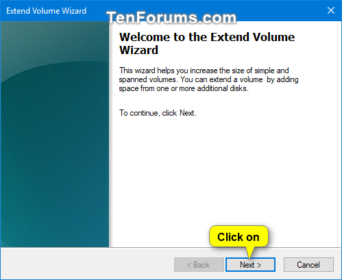 Extend Volume Or Partition In Windows 10 Tutorials