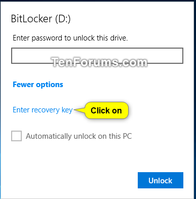Unlock Fixed or Removable BitLocker Drive in Windows | Tutorials