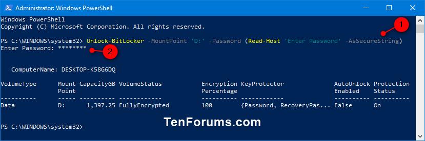 Unlock Fixed or Removable BitLocker Drive in Windows | Tutorials