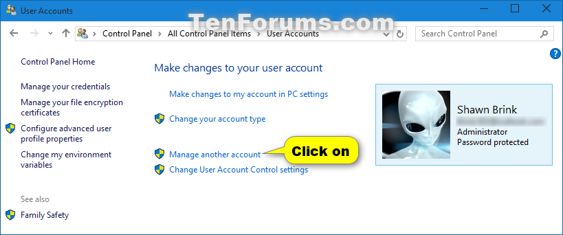 change user password windows 10 home