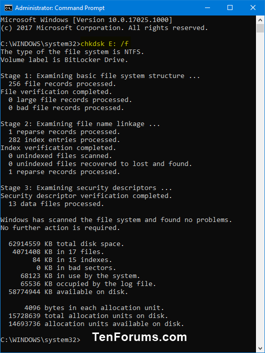Use BitLocker Repair Tool to Recover Encrypted Drive in Windows-chkdsk.png