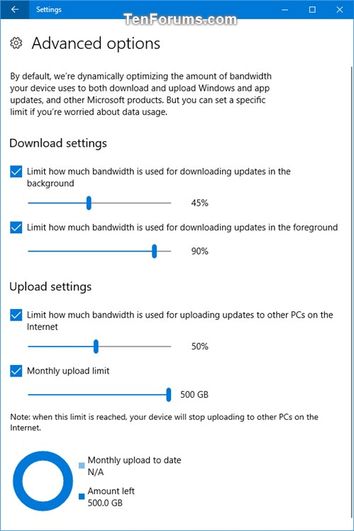 Limit Bandwidth of Windows Update and Store App Updates in