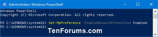 Enable Windows Defender Exploit Guard Network Protection in Windows 10-windows_defender_network_protection_powershell-1.png