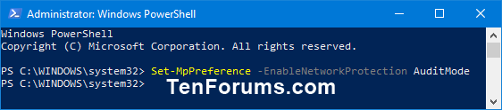 Enable Windows Defender Exploit Guard Network Protection in Windows 10-windows_defender_network_protection_powershell-3.png