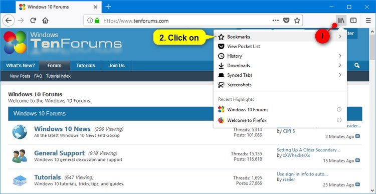 Import Favorites from Internet Explorer to Firefox in Windows 10 | Tutorials