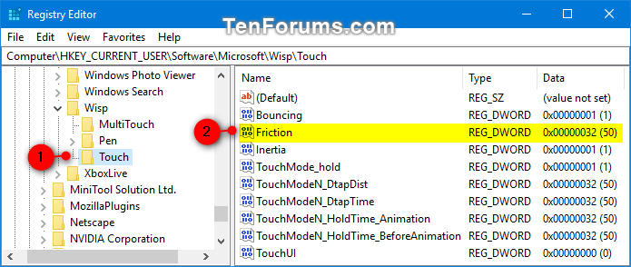 Change Touch Scrolling Friction in Windows 10 | Tutorials