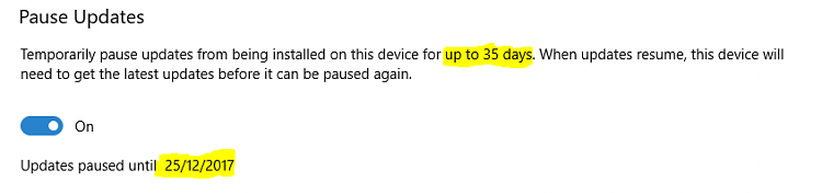 Pause Updates or Resume Updates for Windows Update in Windows 10-paused-35-days.png