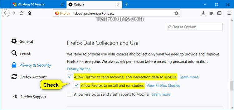 Opt-in or Opt-out of SHIELD Studies in Firefox | Tutorials