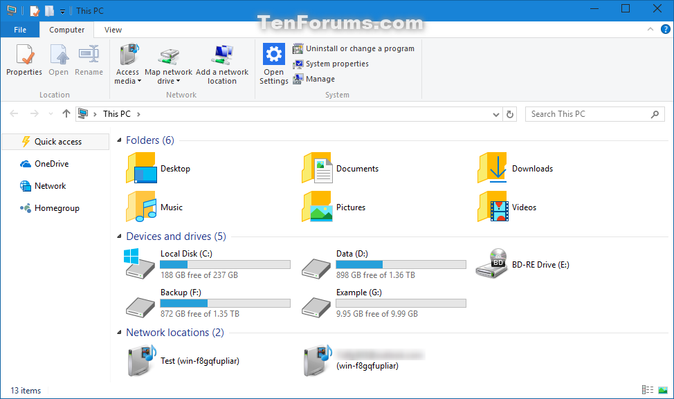 windows explorer windows 10
