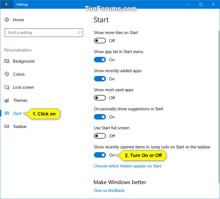Reset and Clear Recent Items and Frequent Places in Windows 10-recent_items_settings.jpg