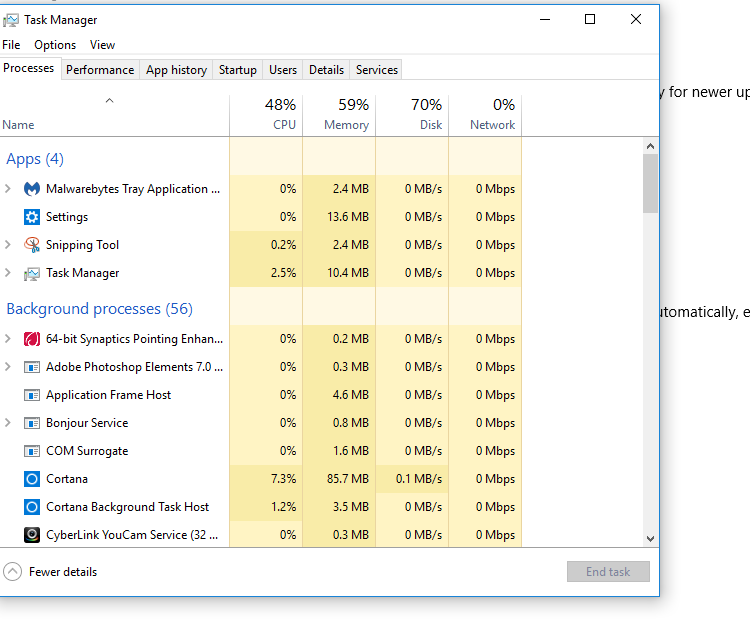 Name:  Disk usage lowers after WUTS repair.PNG Views: 90 Size:  43.8 KB