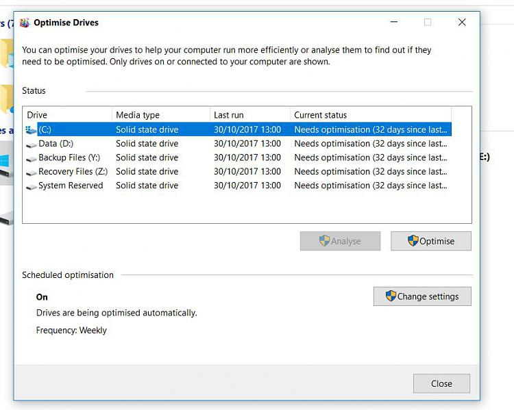 Click image for larger version.  Name:SSD Optimisation.JPG Views:235 Size:94.3 KB ID:166325