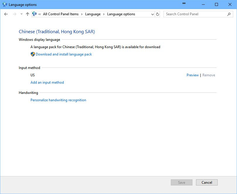 language pack windows 10 download
