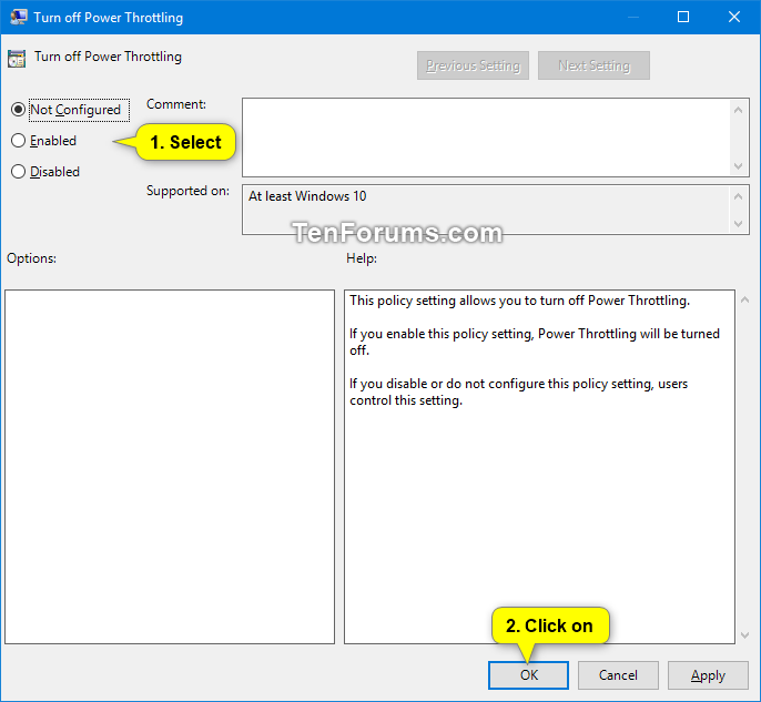 Enable or Disable Power Throttling in Windows 10 | Tutorials
