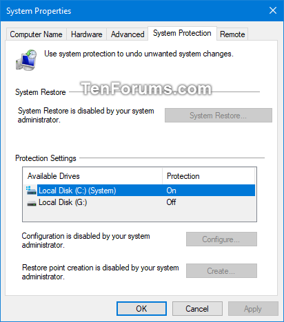 Enable or Disable System Restore in Windows | Tutorials