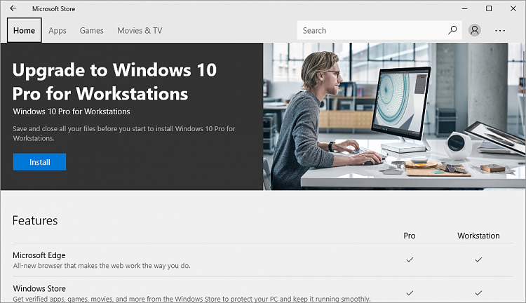 Upgrade Windows 10 Pro to Windows 10 Pro for Workstations ...