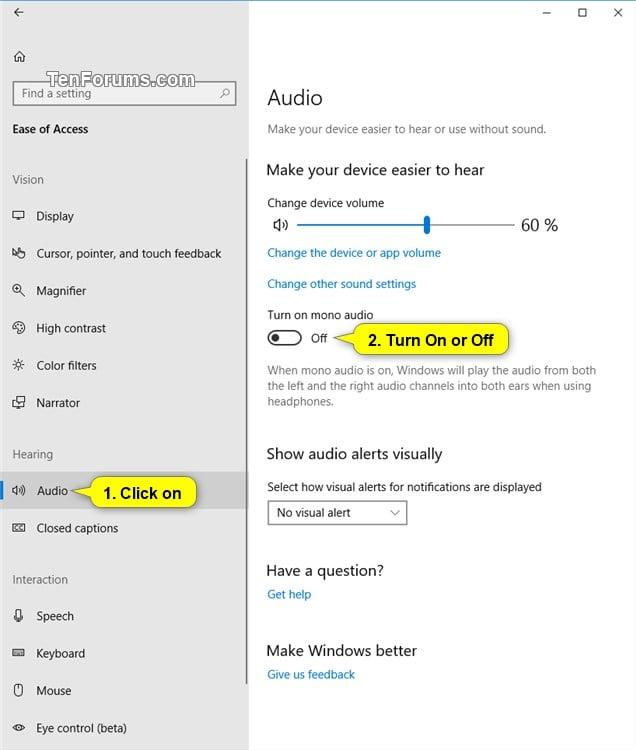 Cách Bật / Tắt Âm Thanh Đơn Âm Trên Windows 10 - VERA STAR