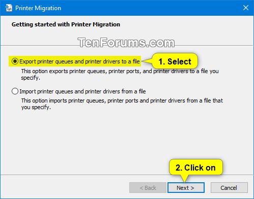 Backup and Restore Printers in Windows | Tutorials