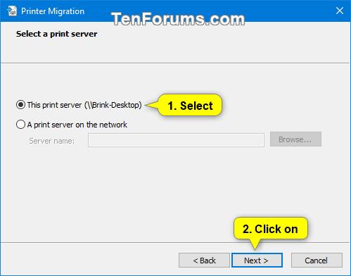 Backup And Restore Printers In Windows Tutorials