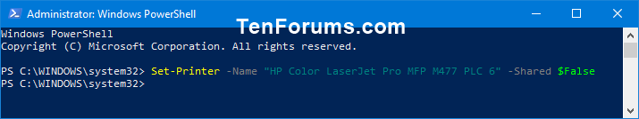 Name:  Unshare_Printer_in_PowerShell.png Views: 573 Size:  9.5 KB
