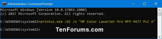Remove Printer in Windows 10 | Tutorials