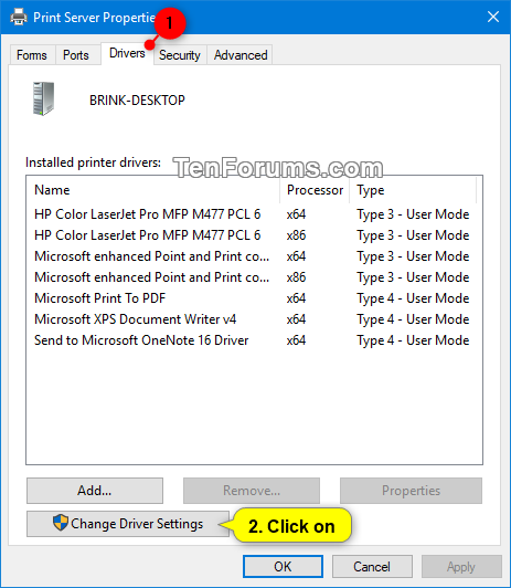 uninstall printer drivers on pc