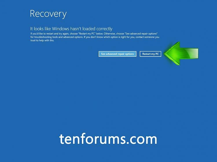 Click image for larger version.  Name:Recovery Restart PC.jpg Views:4559 Size:165.3 KB ID:17094