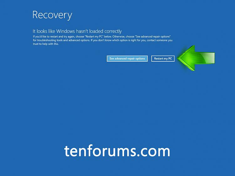 Click image for larger version.  Name:Recovery Restart PC.jpg Views:9768 Size:165.3 KB ID:17094