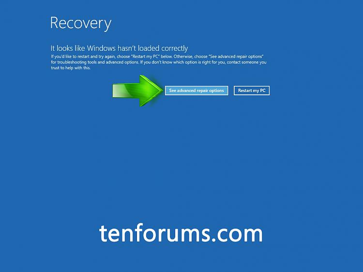 Troubleshoot Windows 10 failure to boot using Recovery Environment-recovery.jpg