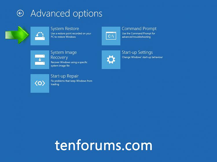 how to show advanced boot options in windows 10