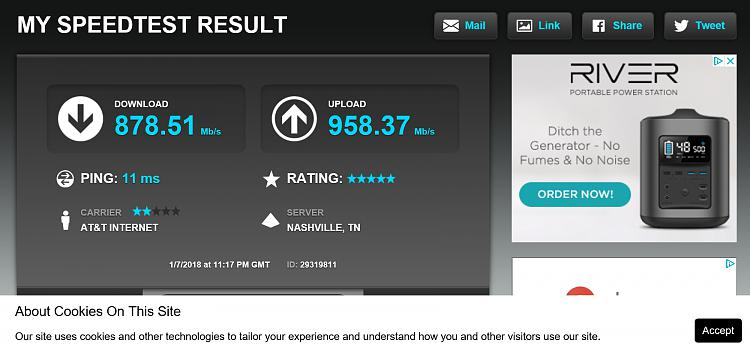 Click image for larger version.  Name:my speedtest result.jpg Views:64 Size:403.1 KB ID:171427