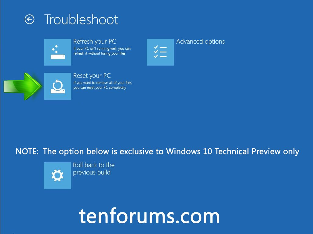 Troubleshoot Windows 10 failure to boot using Recovery
